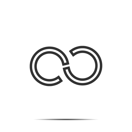 Infinity symbol concept letter c Ilustrace