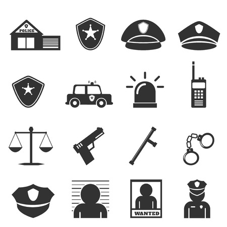 security officer: police icon Illustration