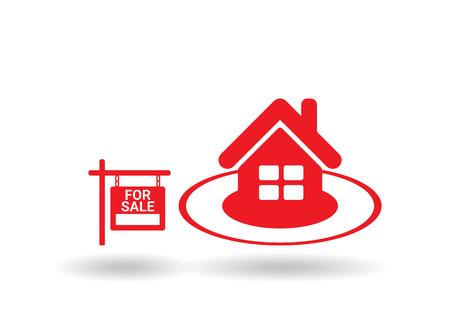 home sale: Home For Sale Real Estate Sign  . House Real Estate   design Illustration