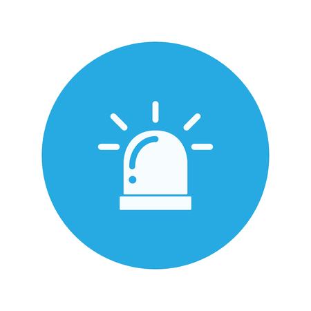 warning icon: police siren warning icon