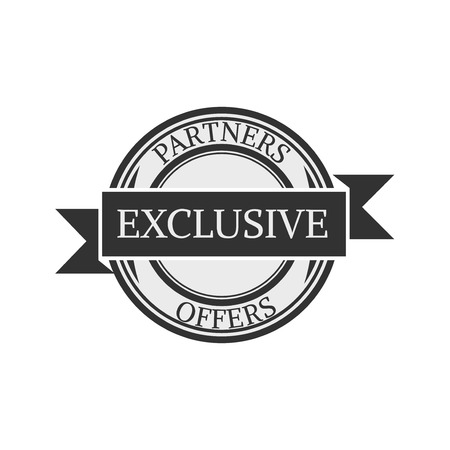 exclusive collection: exclusive icon . concept  shopping , vintage retro badge label   design , collection of premium quality