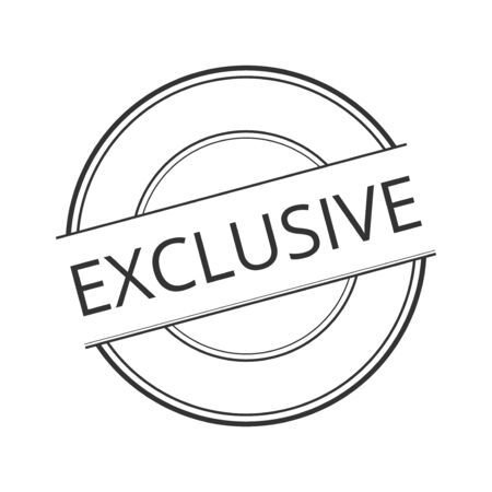 exclusive icon: exclusive icon . concept  shopping , vintage retro badge label   design , collection of premium quality