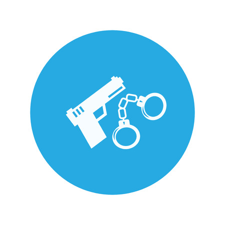 shackle: police shackle gun icon
