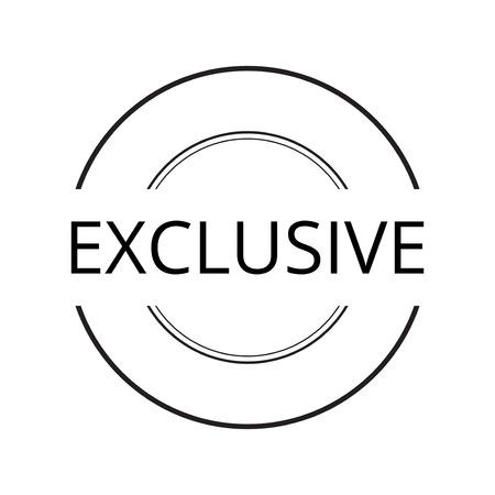 exclusive icon . concept  shopping , vintage retro badge label   design , collection of premium quality