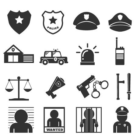shackle: police icon Illustration