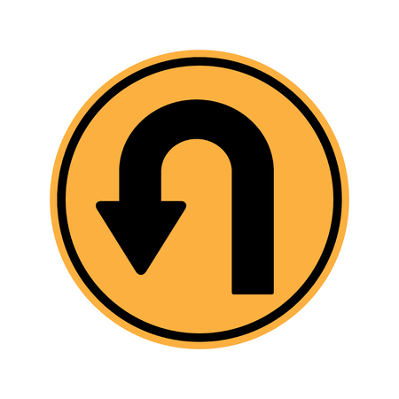 motorist: U turn Sign Illustration