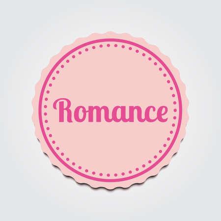 romance: Labels romance . label and badge