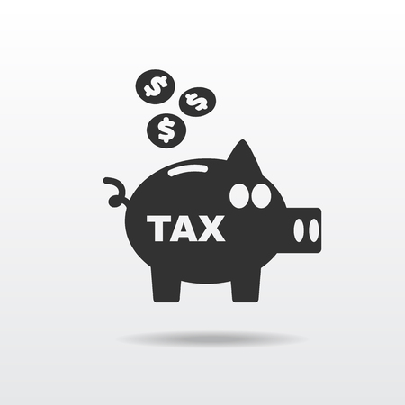 taxes: tax icon pig silhouette Illustration