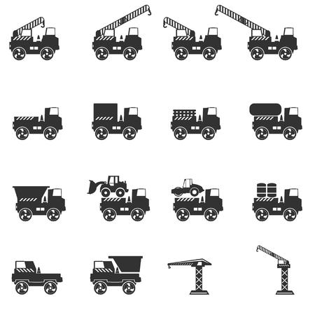 truckload: Truck icon set. Vector silhouettes Illustration
