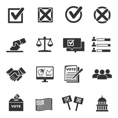 icônes du vote - vector icon set