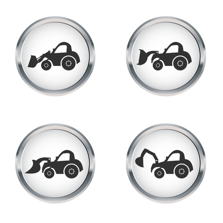 dozer: Crawler Dozer  Icon set , vector Illustration Illustration