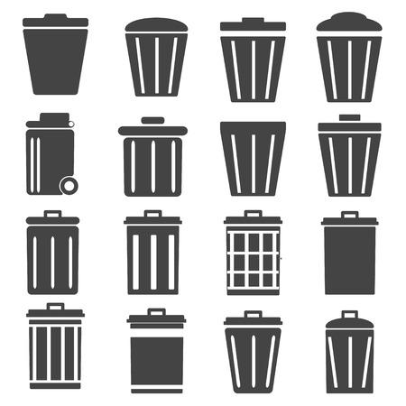 trashcan: trashcan vector icon Illustration