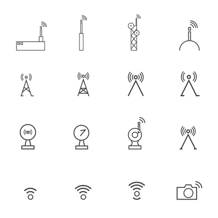 airwaves: Antenna icons