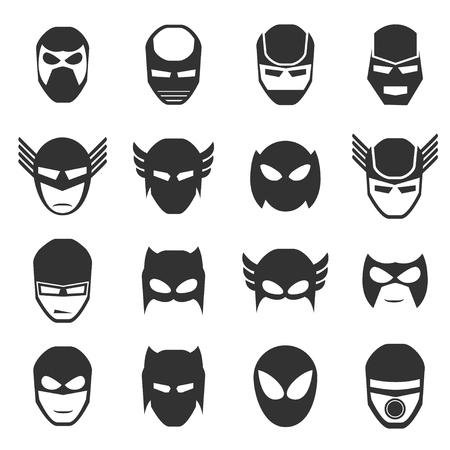 スーパー ヒーロー マスク アイコン ベクトル図 v.2