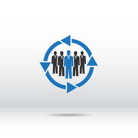 people icon: people working icon . people icon blue .  people different icon . people team . office people icons set