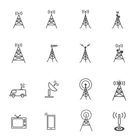 airwaves: Antenna icon Illustration