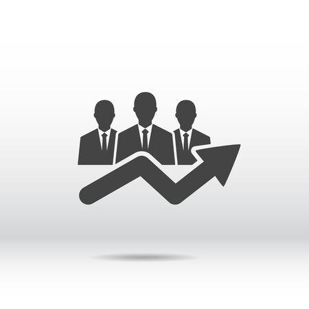 business team: people icon . business  team Illustration
