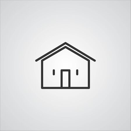 line: House Line Icon  , Buildings and  House  Line Icon Vector