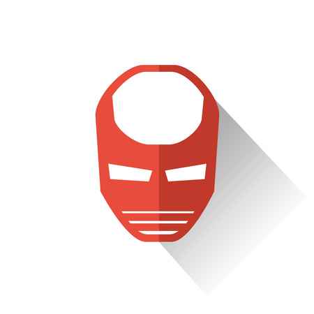 super human: super hero mask icon colorful vector illustration , flat style , Long Shadow