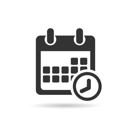 Kalender pictogram. Plat ontwerp . Vector illustratie