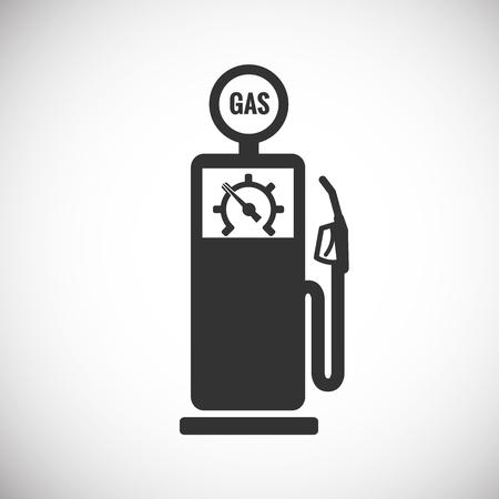 Gas Pump Icon silhouette Illustration