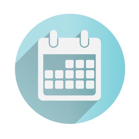 Icono de calendario. Diseño plano . Ilustración del vector Foto de archivo - 56544643