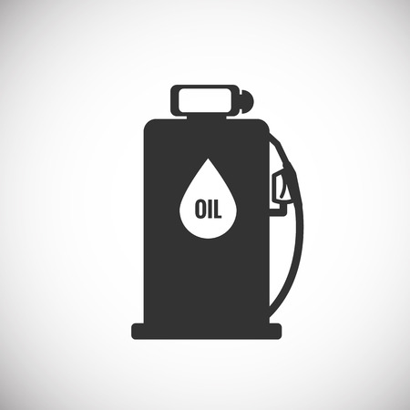 gas pump: Gas Pump Icon silhouette Illustration