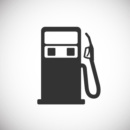 Gas Pump Icon silhouette Stock Illustratie