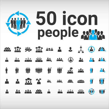 People Icon, people icon flat, people icon set, people icon vector, people icon EPS10, people icon graphic, people icon object, people icon JPEG, people icon picture, people icon image Ilustrace