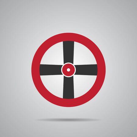 conduit: Valve Gas Pipe Taps Icon. Pipe line Icon. Valve red. Vector Icon EPS10