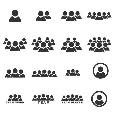 pictogram people: people icon  silhouette vector set Illustration