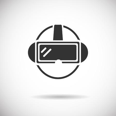 Virtual Reality Icon - VR silhouet vector Stock Illustratie
