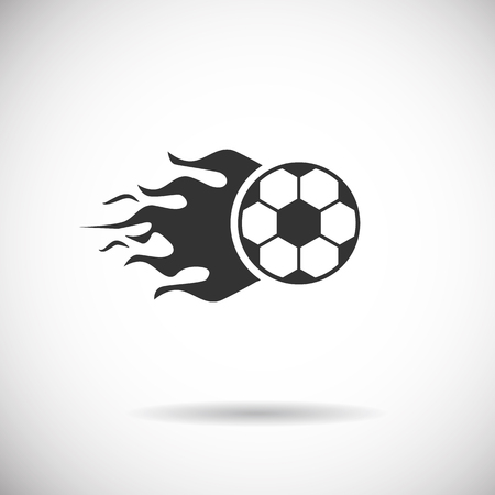 goal cage: Soccer Icon - football fire silhouette vector