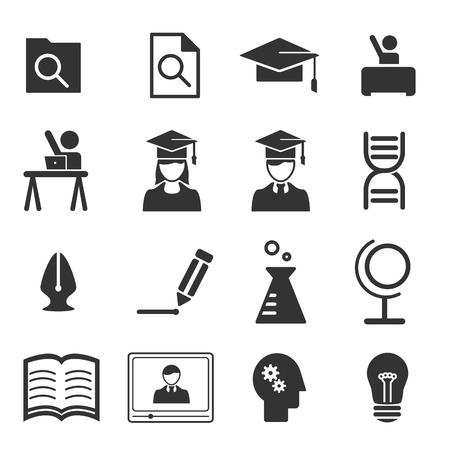 study icon: Study icons - vector icon set