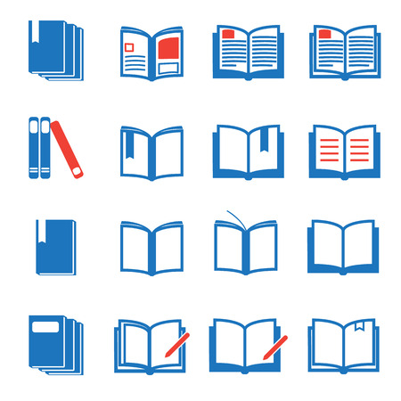 i nobody: Book icons  vector illustration Illustration