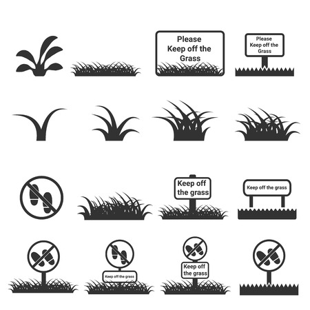 sedge: grass icon , keep off the grass