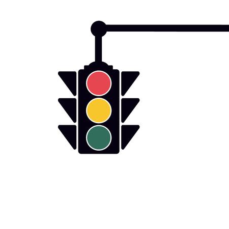 Traffic Light, Vector Illustration