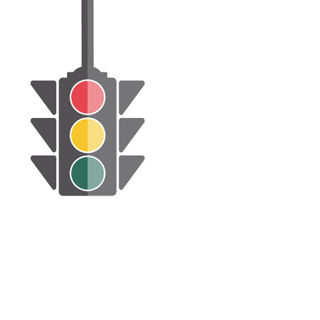 regulate: Traffic Light, Flat Style  Vector Illustration