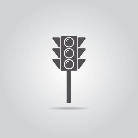 regulate: Traffic Light Icon, Vector Illustration