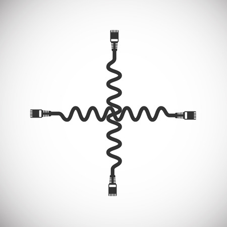 lan: LAN Wire Cable Computer Icon Illustration