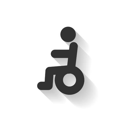 elder: elder icon wheelchair Illustration