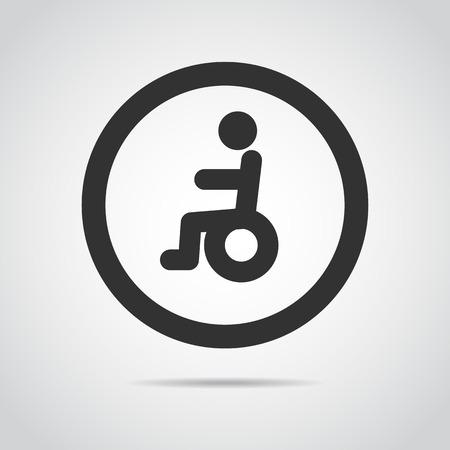 elder: elder icon wheelchair, Illustration