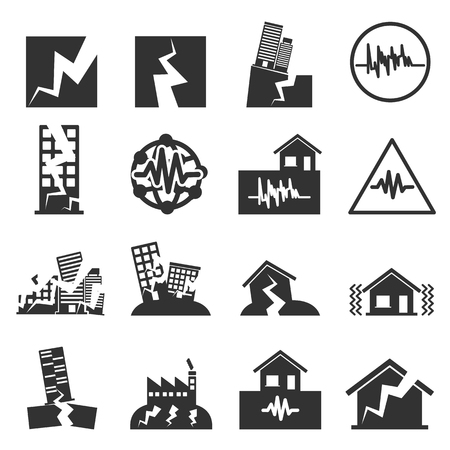 Earthquake Icon Illustration