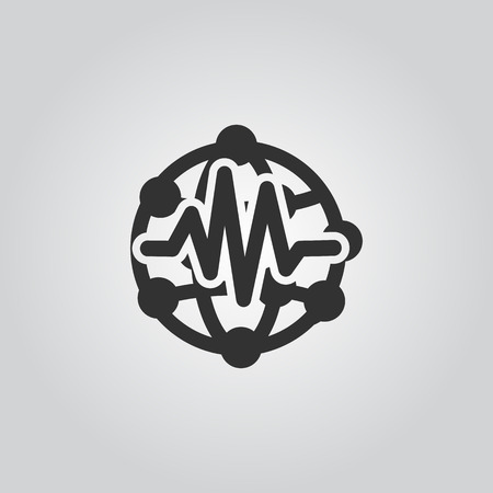 landslide: Earthquake Icon Illustration