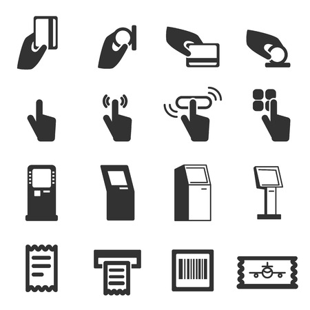 operated: Kiosk Vector Icons . Modern vector pictogram collection Illustration
