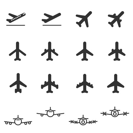 fighter pilot: planes icons vector illustration icon set