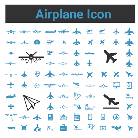missile: Airplane Icon, Figther Plnae, Jet Missile helicopter ,  Vector illustration icon set