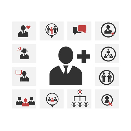 social work: people icon , businesspeople ,  social work group team , vector icon set Illustration