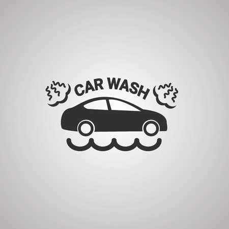 operated: Car wash icon or    vector illustration