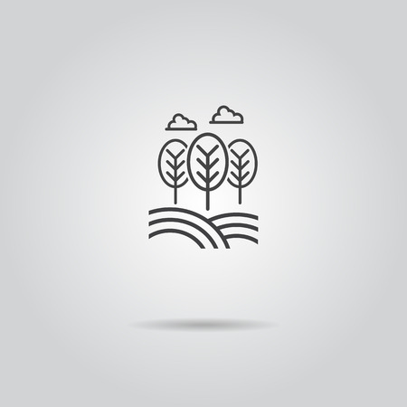safe water: Eco icon . tree leaf natural vector illustration
